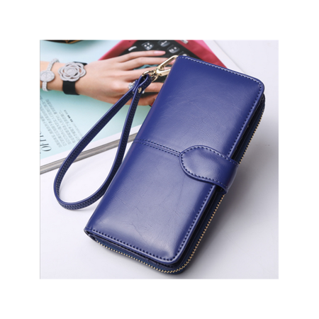 Lady Soft Bright PU Leather Purse Portefeuille Large Capacity Phone Wallet Handbag Clutch Bag For Smartphone Woman Gift