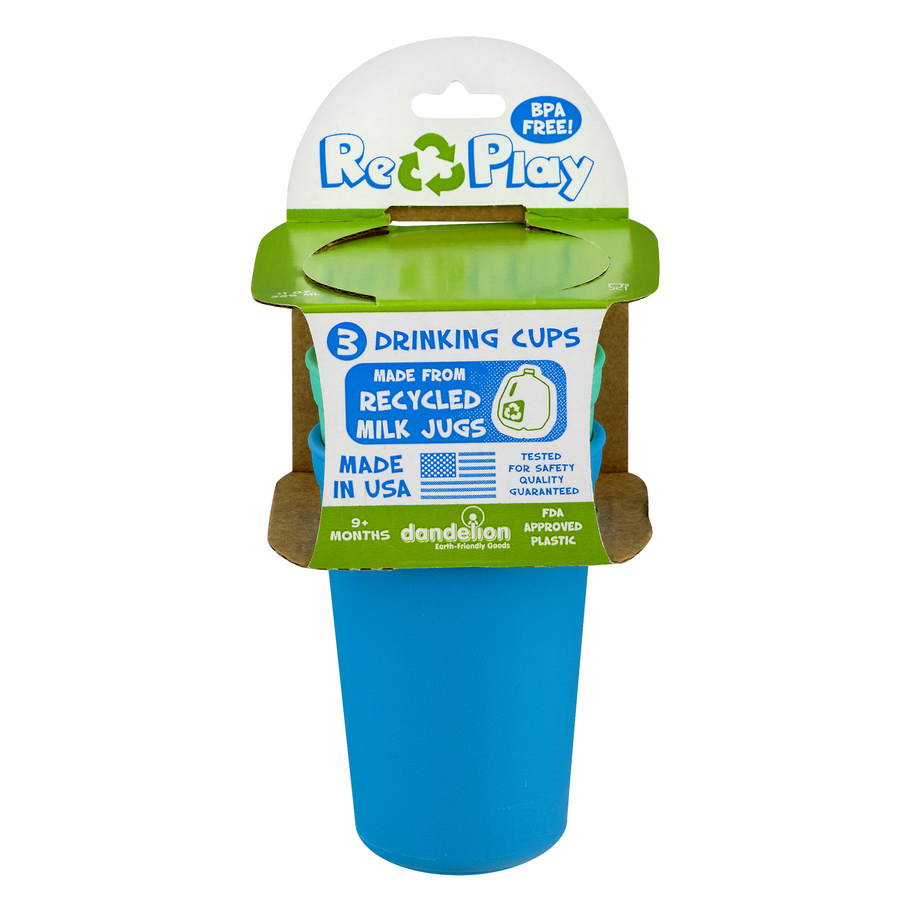 Re-Play Recycled 3pk Drinking Cups Princess Combo in Packaging by Re-Play