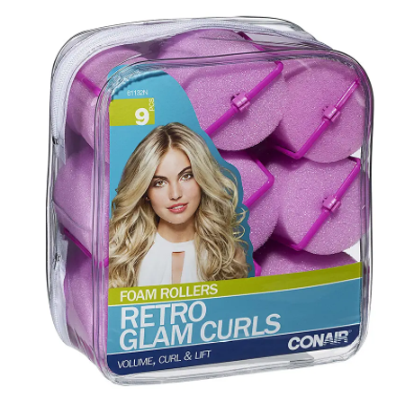 Conair Brush Styling Essentials Big Curls Hair Rollers Set 9.0 pcs(pack of