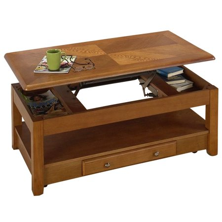 jofran 480 series wood lift top cocktail coffee table in oak. Black Bedroom Furniture Sets. Home Design Ideas