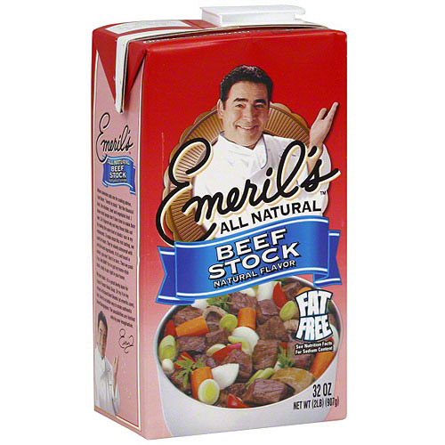 Emeril's Bam! Organic Natural Beef Cooking Stock, 32 oz (Pack of 6)
