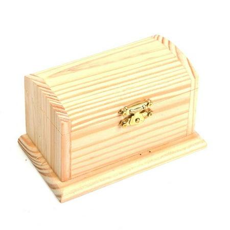 Wood Pirate Treasure Box, One treasure chest. By Century Novelty