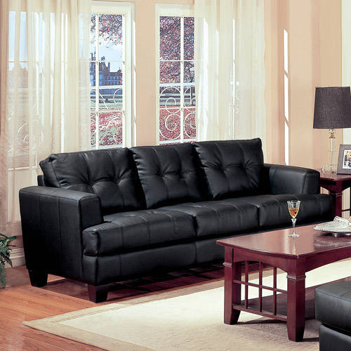 Coaster Samuel Bonded Leather Sofa, Multiple Colors - Walmart.Com