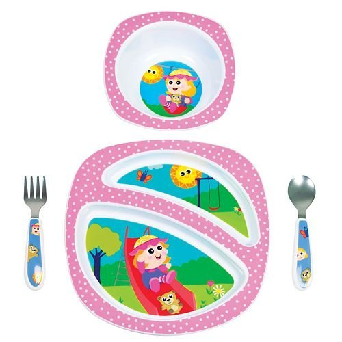 Lamaze My Friend Emily-A-Lot 4 Piece Feeding Set Multi-Colored