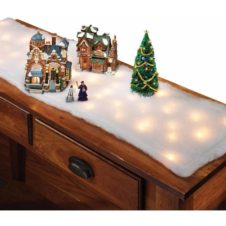 Lighted Snow Table Runner Walmart Com