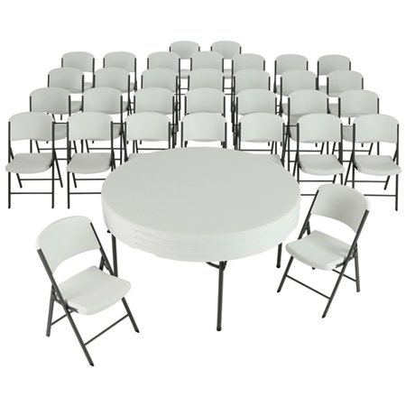 Lifetime Inch Round Folding Tables With Folding Chairs - 60 inch conference table