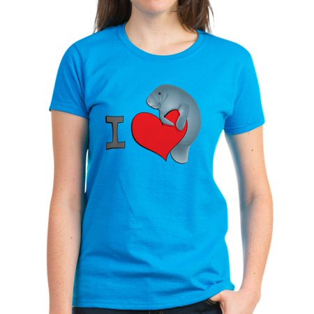CafePress - I Heart Manatees - Women's Dark T-Shirt