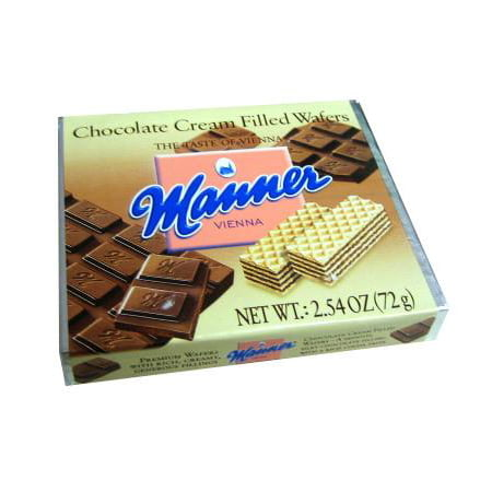 Chocolate Cream Filled Wafers (Manner) - Chocolate Soy Wafers