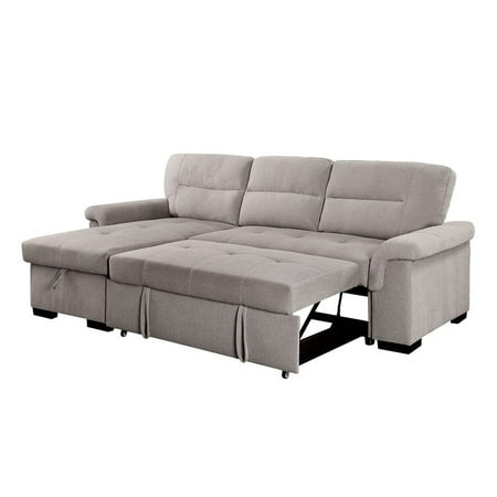 Furniture Of America Taylor Sleeper Sectional In Light Gray