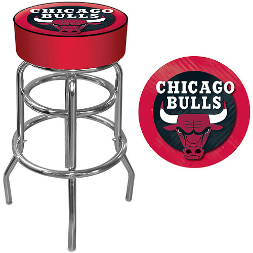 "Trademark Global NBA Chicago Bulls 31"" Padded Swivel Bar Stool"