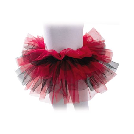 Red Black Girls Ballet Dance Rave Halloween Tutu Petticoat-One Size