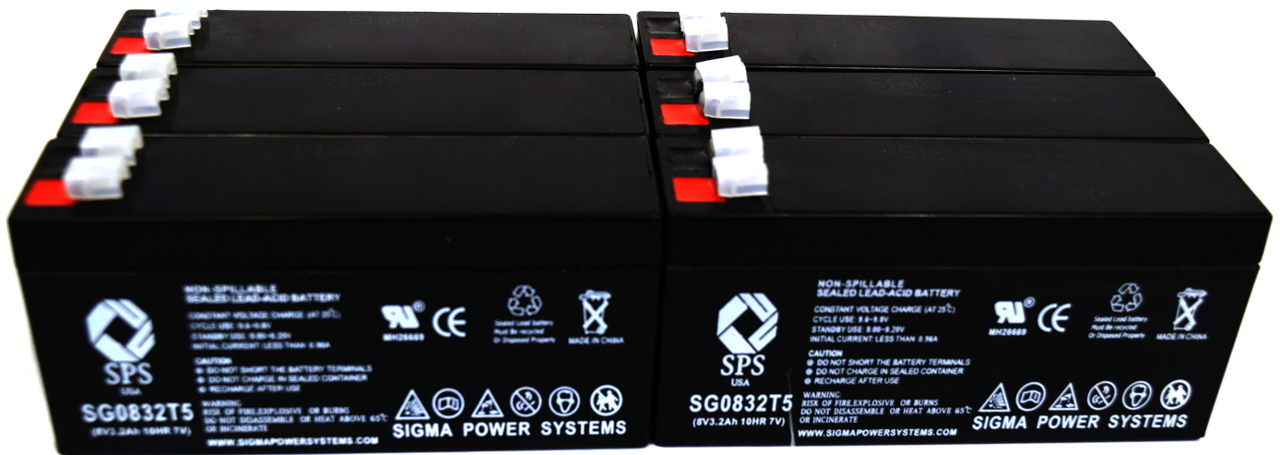 SPS Brand 8V 3.2 Ah Replacement battery for Siemens 2870728 ( 6 PACK) by