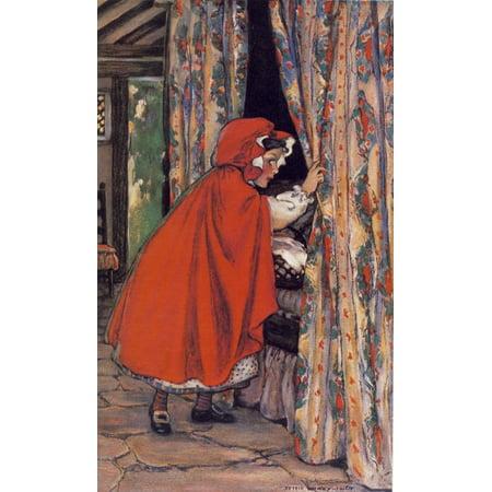 - The Swifts Premium Fairy Calander 1916 Little Red Riding Hood Canvas Art - Jessie Willcox Smith (18 x 24)