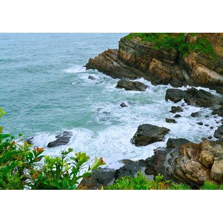 LAMINATED POSTER The Beach Natural The Sea Knife Quang Ninh Co Poster Print 24 x 36 (The Beach Natural)