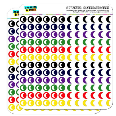 Moon Dots Planner Calendar Scrapbooking Crafting Stickers - Multi Color - Opaque