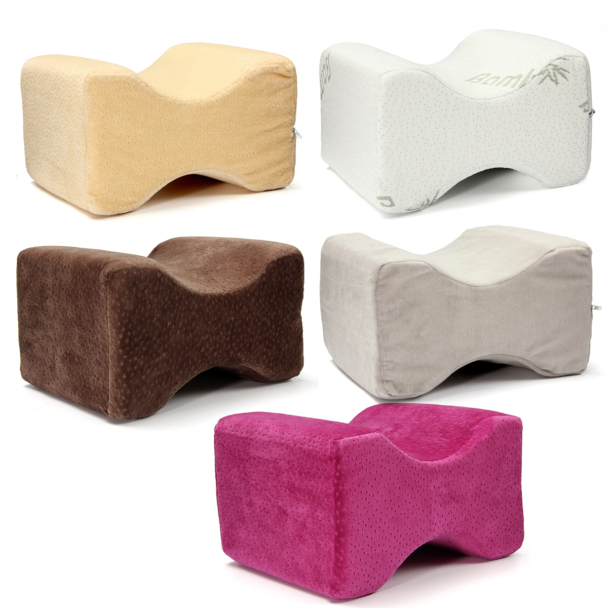 Breathable Memory Foam Knee Pillow Cushion Pain Relief Wedge For Sciatic Nerve Legs Back Sleepers and Pregnancy