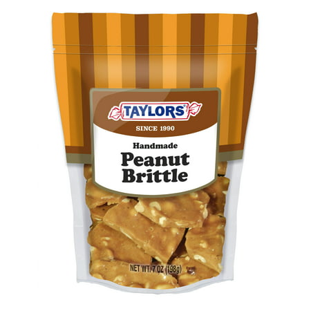(3 Pack) Taylor's Candy, Handmade Peanut Brittle, 7 (Best Soft Peanut Brittle)