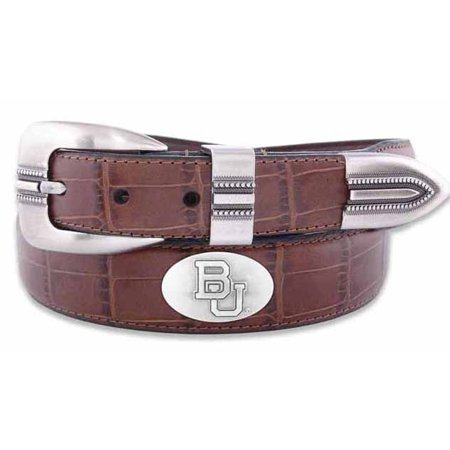 Baylor Concho Crocodile Tan Leather Belt (Crystal Concho Belt)