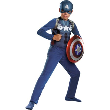 Morris Costumes Boys Captain America Basc Child 4-6, Style DG73360L