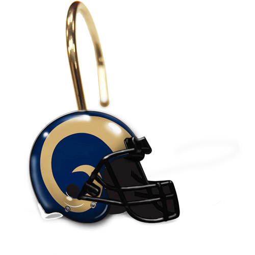 NFL St. Louis Rams Shower Curtain Rings, Set of 12