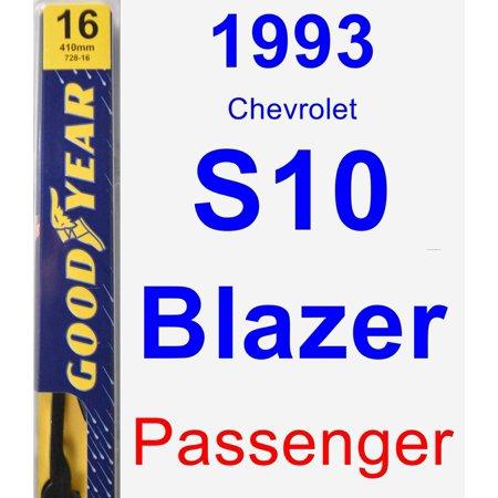 Chevrolet S10 Blazer Wiper - 1993 Chevrolet S10 Blazer Passenger Wiper Blade - Premium