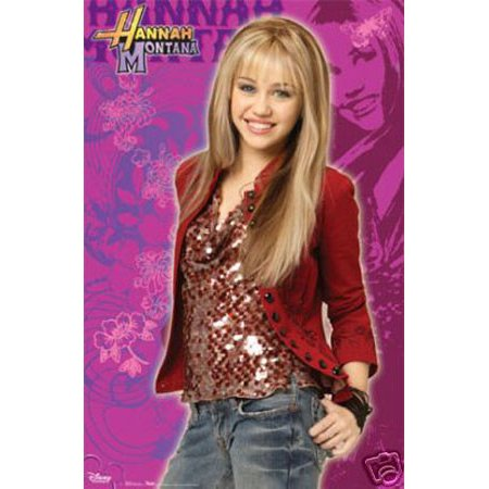 Hannah Nontana And Miley Cyrus Movie Poster  24   X 36