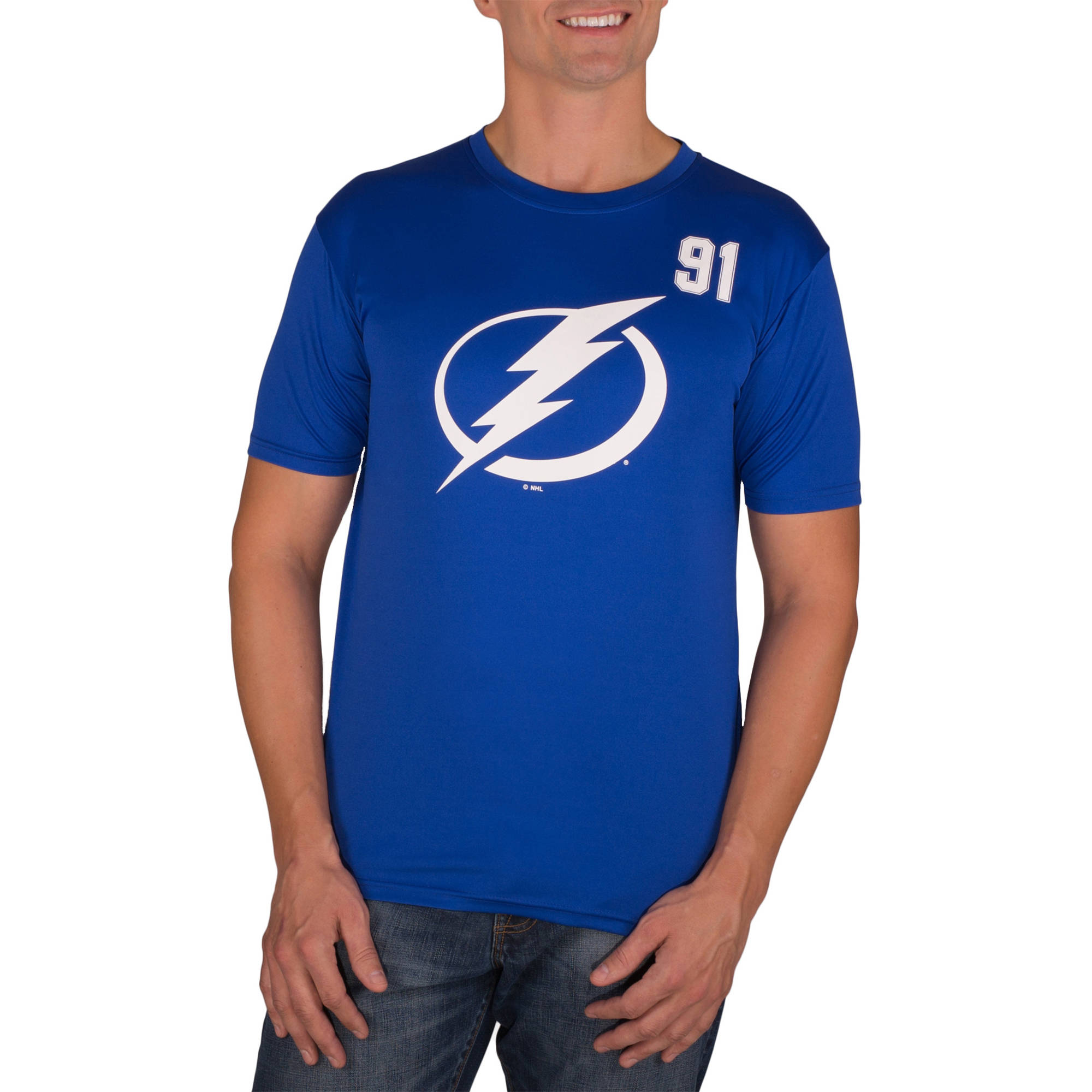 NHL Tampa Bay Lightning Steven Stamkos 91 Men's Athletic-Fit Impact Tee Shirt