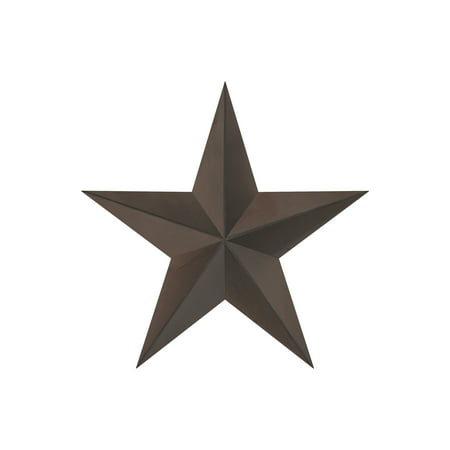 Barn Star-24-Inch Metal Indoor Rustic Wall Decor by Lavish Garden (Brown) ()