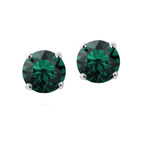 Swarovski Emerald Green Cufflinks - Swarovski Elements Emerald Stud Earrings