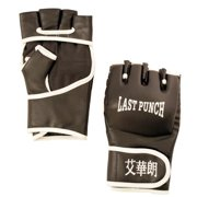 128 Leather Wrist wrap Heavy Bag Gloves Boxing Training Gloves