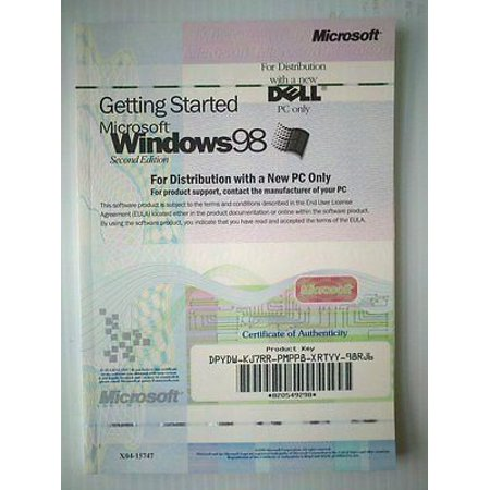 MICROSOFT X04-15747 Windows 98 2nd ed.OEM Book AND PRODUCT
