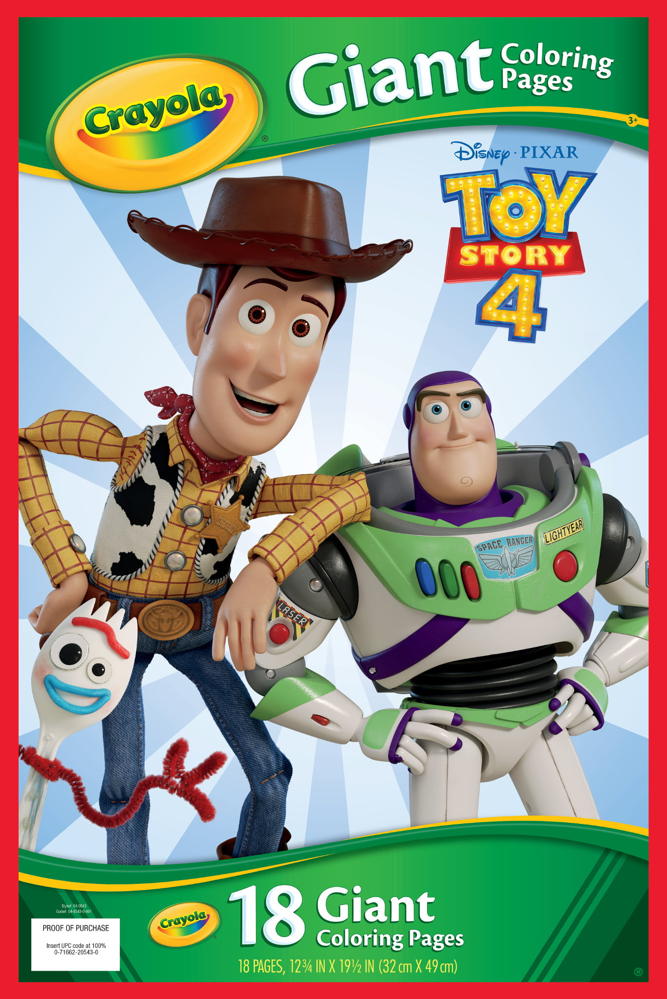 Crayola Giant Coloring Pages Featuring Toy Story 4 - Walmart.com -  Walmart.com