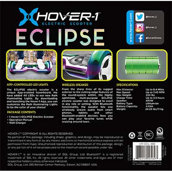 Hover-1 Eclipse UL Certified Self Balancing Electric