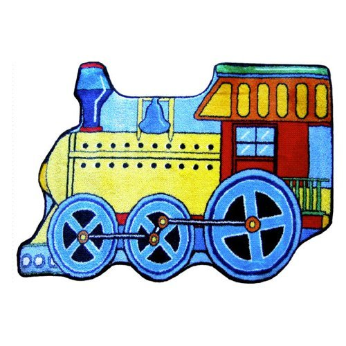 L.A. Rugs Train Kids Area Rug