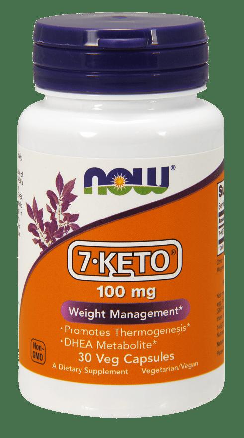 NOW Vegetarian 7-KETO Weight Management, 100 mg, 30 Ct