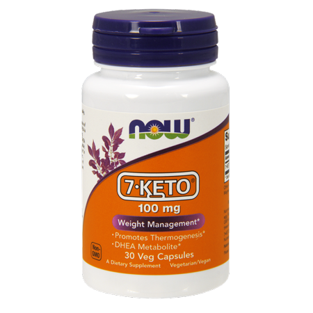 (NOW Vegetarian 7-KETO Weight Management, 100 mg, 30 Ct)