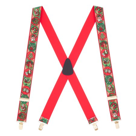 Suspender Store Christmas Spirit Clip-End Novelty Suspenders (3 Sizes) - Novelty Suspenders