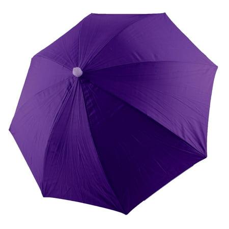 Outdoor Camping Fishing Headwear Foldable Portable Rain Sun Umbrella Hat Purple - Ubrella Hat