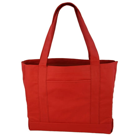 Daily Tote with Shoulder Length Handle and Outside Pocket - Teacher Tote Bags With Pockets