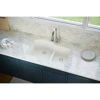 "Elkay ELXH3322R Quartz Luxe 33"" Double Basin Quartz Kitchen Sink For Drop-In Installation"