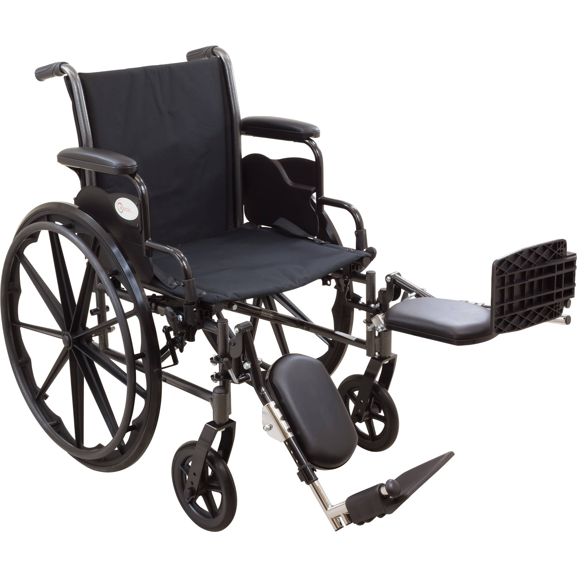 "Roscoe Reliance III Wheelchair, 20"" Seat with Elevating Legrests"