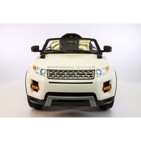 Range Rover Style 12V Kids Ride-On Toy Car Battery Powered LED Wheels R/C White 6 Wheel Range Rover