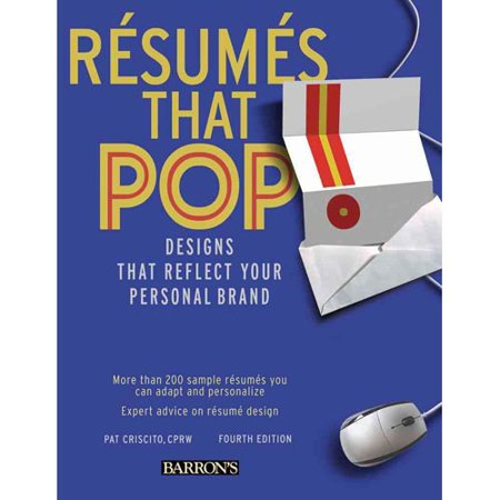 Resumes That Pop   Designs That Reflect Your Personal Brand