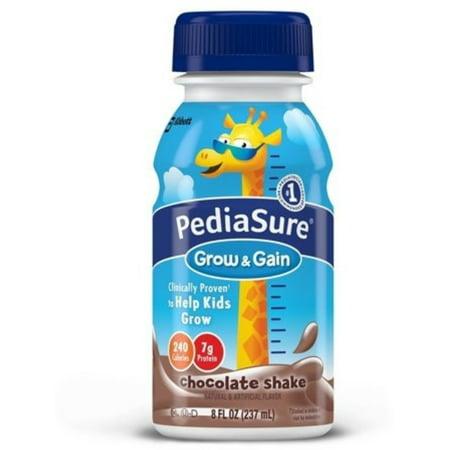 2 Pack - PediaSure Complete Balanced Nutrition Liquid, Chocolate Flavor, 8 oz, 24 -