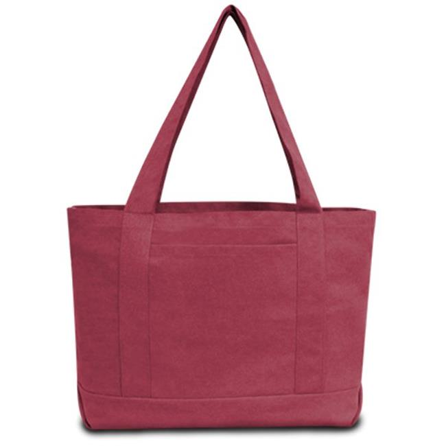 Seaside Cotton Pigment Dyed Boat Tote, Crimson - Case of 48 - image 1 de 1