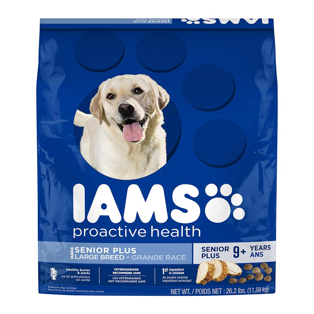 IAMS PROACTIVE HEALTH Senior Plus Large Breed Dry Dog Food 26.2 Pounds
