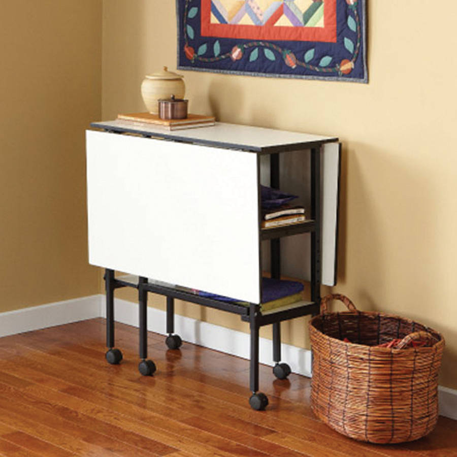 """Home Hobby Adjustable Height Foldable Table, 59"""" x 35.8"""" Open"""