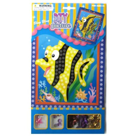 DIY Picture Kit W/Gems & Sequins Flower Angel Fish 8