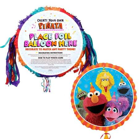 Elmo Pull-String Pinata - Party - Elmo Pinata