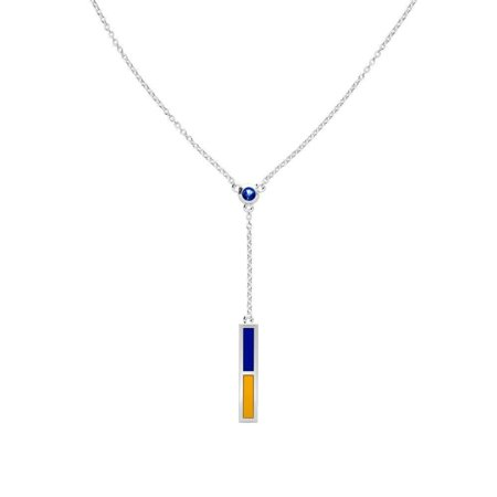 Rollins College - Sapphire Drop Necklace in Blue and Yellow ()